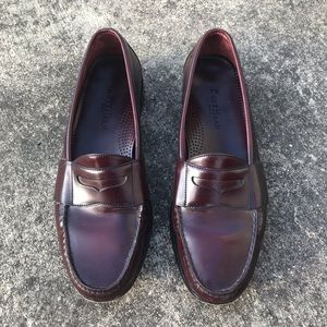 Cole Haan City Burgundy Penny Loafers